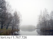 Туман над водоёмом. Стоковое фото, фотограф Виталий Фурсов / Фотобанк Лори