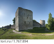 Купить «Северный захаб, Талавская башня и башня Вышка. Изборская крепость», фото № 1767894, снято 5 июня 2010 г. (c) Виктор Пелих / Фотобанк Лори