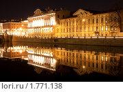 Купить «Санкт-Петербург, набережная реки Фонтанки ночь», фото № 1771138, снято 30 марта 2010 г. (c) Алексей Ширманов / Фотобанк Лори