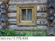 Купить «Стена бревенчатая с окном», фото № 1778434, снято 6 июня 2010 г. (c) Дмитрий Грушин / Фотобанк Лори