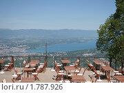 Женевское озеро с высоты (2010 год). Стоковое фото, фотограф Oksana Oleneva / Фотобанк Лори