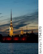 Купить «Петропавловская крепость. Белые ночи.», фото № 1794070, снято 19 июня 2010 г. (c) Светлана Кудрина / Фотобанк Лори
