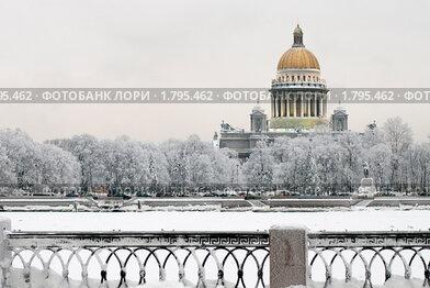 Зимний Санкт-Петербург. Нева (2010 год). Стоковое фото, фотограф Александр Алексеев / Фотобанк Лори
