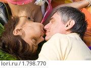 Купить «Мужчина и женщина отдыхают на траве», фото № 1798770, снято 5 июня 2010 г. (c) ИВА Афонская / Фотобанк Лори