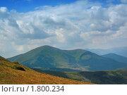 Купить «Вид  с горы Говерла», фото № 1800234, снято 30 июля 2009 г. (c) Aleksander Kaasik / Фотобанк Лори