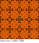 Купить «Традиционный кельтский узор на оранжевом фоне», иллюстрация № 1801798 (c) Татьяна Васина / Фотобанк Лори