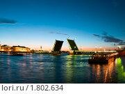 Купить «Дворцовый мост в Санкт-Петербурге в период белых ночей», фото № 1802634, снято 24 июня 2010 г. (c) Кекяляйнен Андрей / Фотобанк Лори