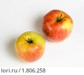 Купить «Два яблока сорта Джонагольд», эксклюзивное фото № 1806258, снято 16 июня 2010 г. (c) Александр Щепин / Фотобанк Лори
