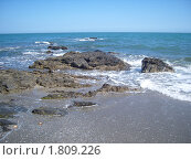 Скалистый берег средиземного моря Испания (2010 год). Стоковое фото, фотограф Татьяна Карпова / Фотобанк Лори