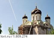 Купить «Строительство собора святой Екатерины в г. Пушкине.», фото № 1809274, снято 21 мая 2010 г. (c) Александр Кокарев / Фотобанк Лори
