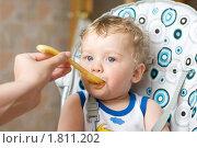 Купить «Кормление ребенка», фото № 1811202, снято 30 мая 2010 г. (c) Jan Jack Russo Media / Фотобанк Лори