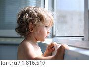 Купить «Ребенок глядит в окно», фото № 1816510, снято 25 июня 2010 г. (c) yarruta / Фотобанк Лори