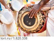 Индийский барабанщик (2010 год). Стоковое фото, фотограф Дмитрий Рухленко / Фотобанк Лори