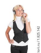 Специалист Call центра. Стоковое фото, фотограф Игорь Долгов / Фотобанк Лори