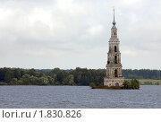 Купить «Затопленная колокольня на Волге в Калязине», фото № 1830826, снято 27 июня 2010 г. (c) Марина Коробанова / Фотобанк Лори
