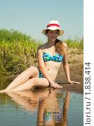 Купить «Девушка на пляже», фото № 1838414, снято 26 июня 2010 г. (c) Яков Филимонов / Фотобанк Лори