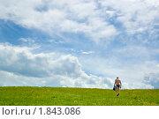 Купить «Облака над поляной», фото № 1843086, снято 10 июля 2010 г. (c) Типляшина Евгения / Фотобанк Лори