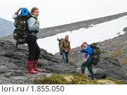 Туристы в походе. Стоковое фото, фотограф Кекяляйнен Андрей / Фотобанк Лори