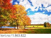 Купить «Осенний пейзаж», фото № 1863822, снято 3 октября 2009 г. (c) Евгений Захаров / Фотобанк Лори
