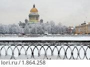 Вид на Сенатскую площадь  зимой. Санкт-Петербург (2010 год). Стоковое фото, фотограф Александр Алексеев / Фотобанк Лори
