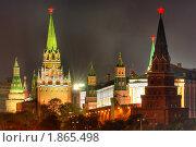 Купить «Московский Кремль вечером», фото № 1865498, снято 21 октября 2019 г. (c) Дмитрий Яковлев / Фотобанк Лори
