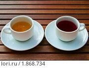 Купить «Два вида чая», фото № 1868734, снято 29 июня 2010 г. (c) Анна Лурье / Фотобанк Лори