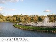 Купить «Царицынский пруд, фонтан», эксклюзивное фото № 1873086, снято 24 сентября 2009 г. (c) Щеголева Ольга / Фотобанк Лори