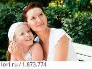 Дочка с мамой улыбаются. Стоковое фото, фотограф Калинина Алиса / Фотобанк Лори