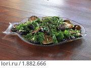 Жареные баклажаны с зеленью. Стоковое фото, фотограф Алина / Фотобанк Лори