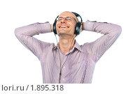 Купить «Мужчина в наушниках», фото № 1895318, снято 29 июля 2010 г. (c) Давид Мзареулян / Фотобанк Лори