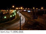 Краснодар. Ночной вид на Кубанскую набережную (2010 год). Редакционное фото, фотограф Анатолий Дорохин / Фотобанк Лори