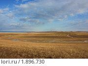 Хакасские степи. Стоковое фото, фотограф Александра Александрова / Фотобанк Лори