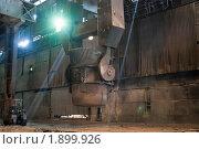 Купить «Литейный ковш на заводе», фото № 1899926, снято 28 июля 2010 г. (c) Кекяляйнен Андрей / Фотобанк Лори