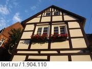 Фахверковый дом, Германия (2010 год). Стоковое фото, фотограф Елена Снопова / Фотобанк Лори
