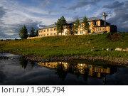 Купить «Отражение дома в реке Вишера. Поселок Вая», фото № 1905794, снято 6 августа 2008 г. (c) Максим Антипин / Фотобанк Лори