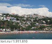 Черногория, Ульцин, городской пляж (2010 год). Стоковое фото, фотограф Верещагина Дарья / Фотобанк Лори