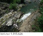 Водопад вид сверху. Стоковое фото, фотограф Елена Лисицина / Фотобанк Лори