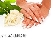 Купить «Свадебный маникюр», фото № 1920098, снято 18 июля 2010 г. (c) Сергей Дашкевич / Фотобанк Лори
