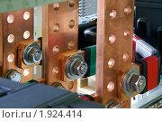 Купить «Промышленное электрооборудование. Внутреннее оборудование силовых электрических шкафов», фото № 1924414, снято 4 июня 2007 г. (c) Юрий Кобзев / Фотобанк Лори