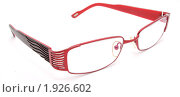 Красные очки на белом фоне. Стоковое фото, фотограф Звягинцев Сергей / Фотобанк Лори