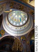 Внутренний вид Спасо-Преображенского собора  Валаамского мужского монастыря. Стоковое фото, фотограф Igor Lijashkov / Фотобанк Лори