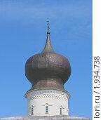 Барабан с куполом церкви Успения с Парома в Пскове (2010 год). Стоковое фото, фотограф Валентина Троль / Фотобанк Лори
