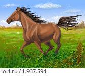 Купить «Скачущая лошадь», иллюстрация № 1937594 (c) Наталья Кузнецова / Фотобанк Лори