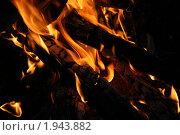 Горящее пламя костра. Стоковое фото, фотограф Татьяна Кирилова / Фотобанк Лори