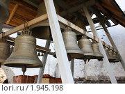 Купить «Соловецкий монастырь. Колокола во внутреннем дворе», фото № 1945198, снято 17 июля 2010 г. (c) Анастасия Семенова / Фотобанк Лори