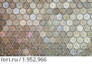 Мозаика - фон из двухрублёвых монет, эксклюзивное фото № 1952966, снято 2 сентября 2010 г. (c) Константин Косов / Фотобанк Лори