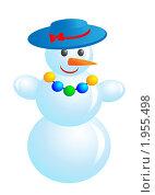 Купить «Стильный снеговик», иллюстрация № 1955498 (c) Наталья Двухимённая / Фотобанк Лори