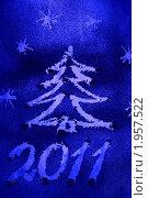 Купить «Новогодний рисунок на снежном стекле», фото № 1957522, снято 4 ноября 2009 г. (c) Дорощенко Элла / Фотобанк Лори