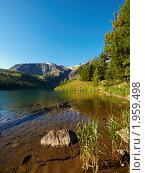 """Купить «Алтай. Озеро у подножия горы """"Красная""""», фото № 1959498, снято 20 августа 2010 г. (c) Andrey M / Фотобанк Лори"""