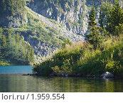 """Купить «Алтай. Озеро у подножия горы """"Красная""""», фото № 1959554, снято 19 августа 2010 г. (c) Andrey M / Фотобанк Лори"""